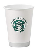 Starbucks 12oz Paper Cup  SETS OF(25)