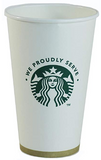 Starbucks 16oz Paper Cup  SETS OF(25)