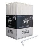 Crystalware Flexible Plastic Drinking Straws