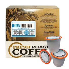 Fresh Roasted Coffee Indian Monsoon Malabar Water Decaf Coffee Pods (18)