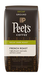 Peet's Coffee Decaf French Roast, Ground Coffee, 12oz Bag
