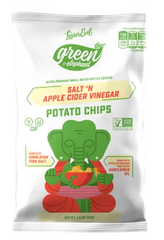 Lesser Evil Kettle Chips Green Elephant Apple Cider Vinegar 24/1.5oz