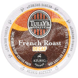 Tully's Coffee Decaffeinated French Roast, Extra Bold, 24-Count K-Cup for Keurig