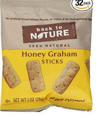 Back to Nature Honey Graham Sticks - 4/8/1 oz