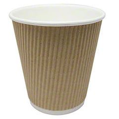 Karat® Kraft Ripple Paper Hot Cup - 8 oz. ITEM # LLC-KRC508