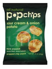 Pop Chips Sour Cream & Onion - 24/0.8 oz