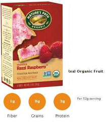 Nature's Path Raspberry Toasted Pastries (Frosted) - 12/11oz