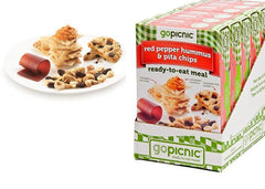 Gopicnic Red Pepper Hummus & Pita Chips Meal Box Case of 6 / 4.1oz