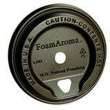 FoamAroma® Coffee Lid - Black ITEM # FMA-L1M1-PB (50)