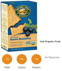 Natures Path BLUEBERRY  Toasted Pastries- Unfrosted  12/11oz