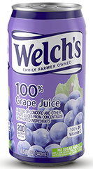 WELCH'S 100% Concord Grape Juice 24/11.5oz Can