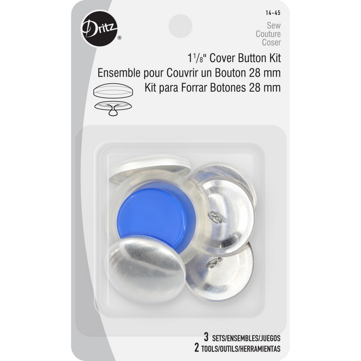 1 - ⅛'' Cover Kit Buttons - FabricPlanet