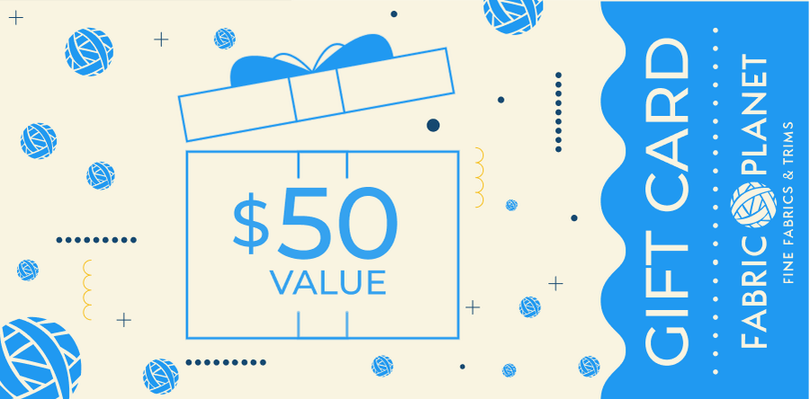 Gift Card $50 - FabricPlanet