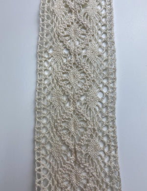Natural Diamond Eyelet lace - FabricPlanet