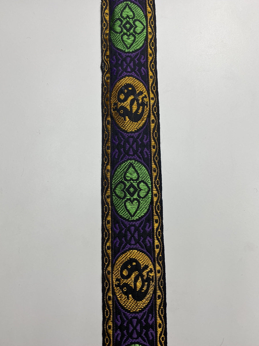 Purple Gold and Greem Tribal Trim