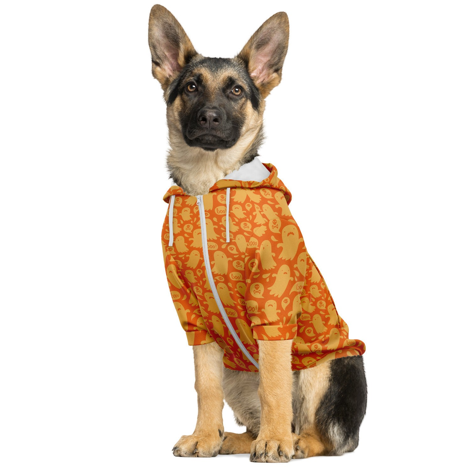 Cute Halloween Ghost Print Pet Hoodie | PetSchitt.com
