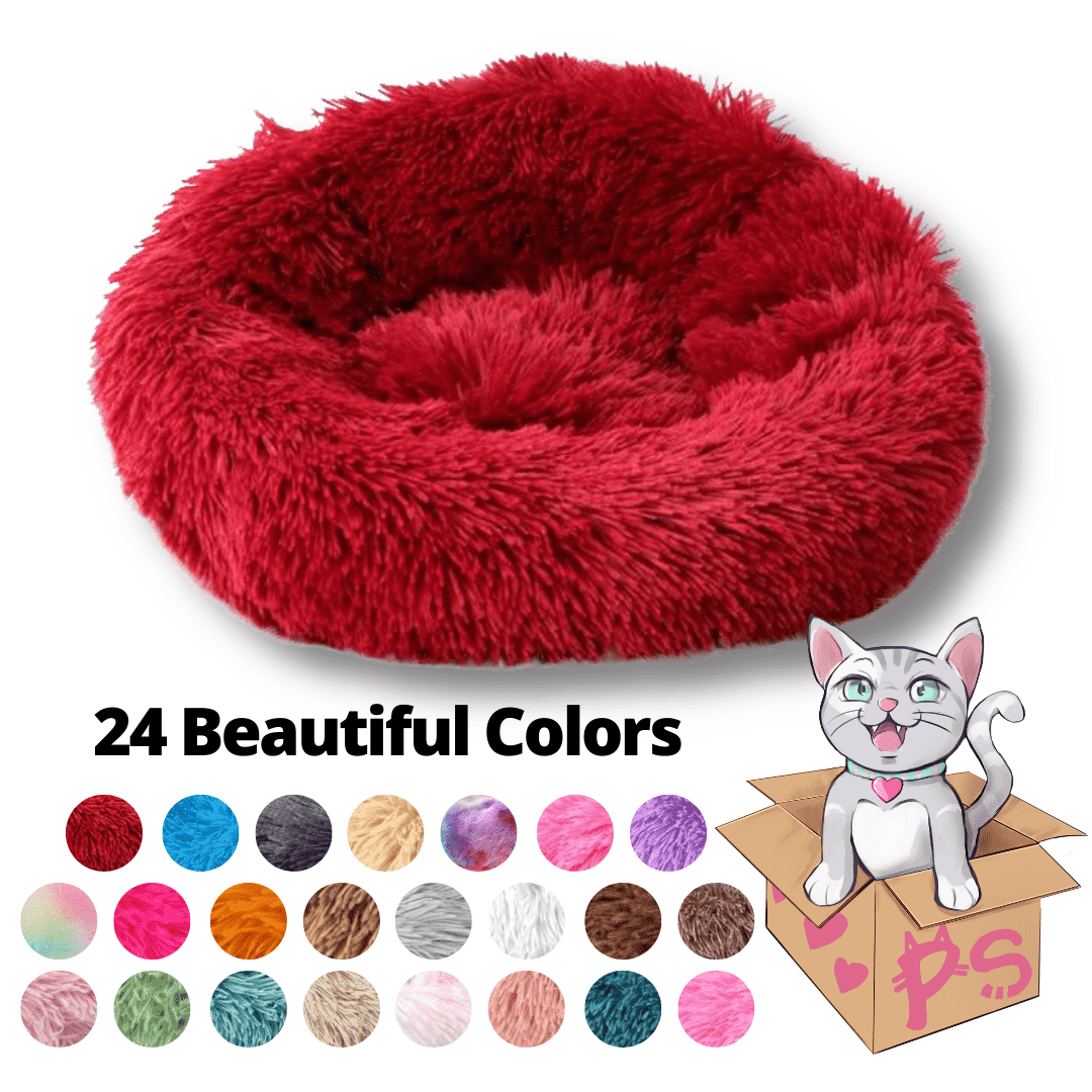 Double Stuff'd Plush Cat Bed - Freaky Fuchsia | PetSchitt.com