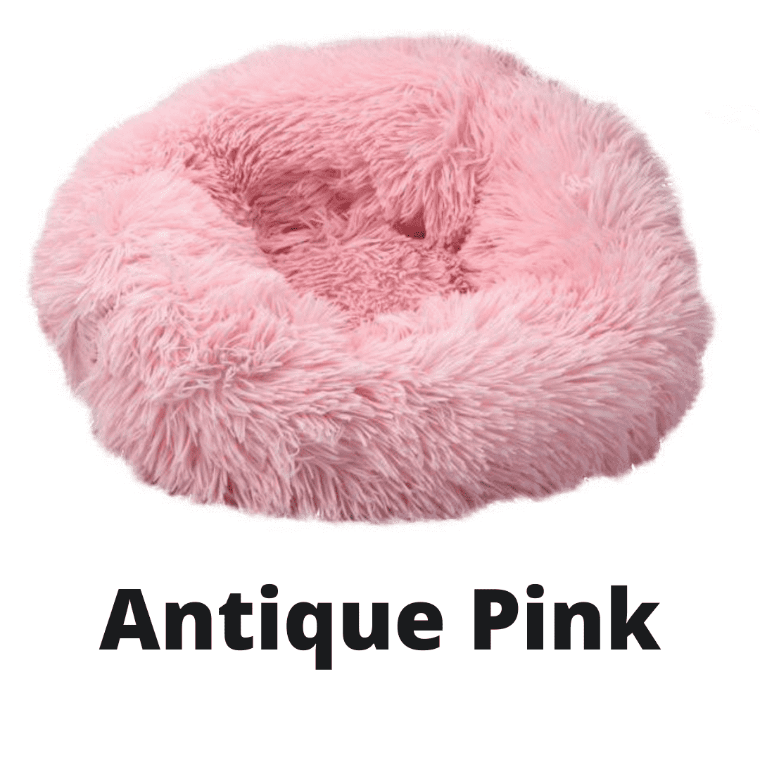 Double Stuff'd Plush Cat Bed - Antique Pink | PetSchitt.com