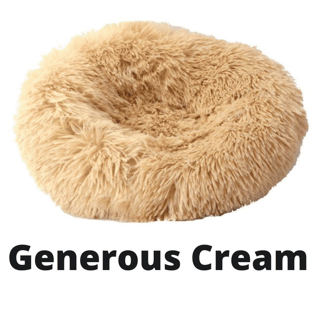 Double Stuff'd Plush Cat Bed - Generous Cream | PetSchitt.com