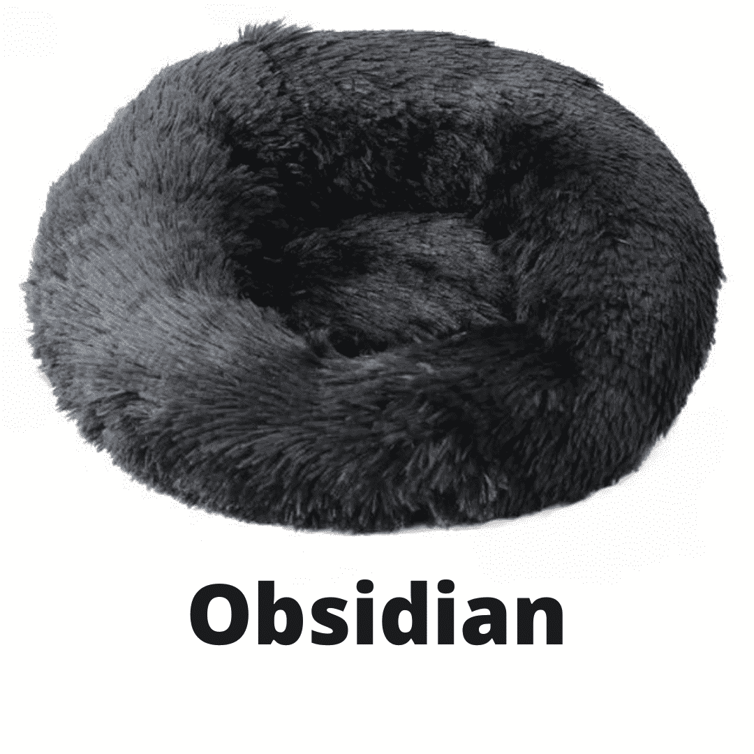 Double Stuff'd Plush Cat Bed - Obsidian | PetSchitt.com