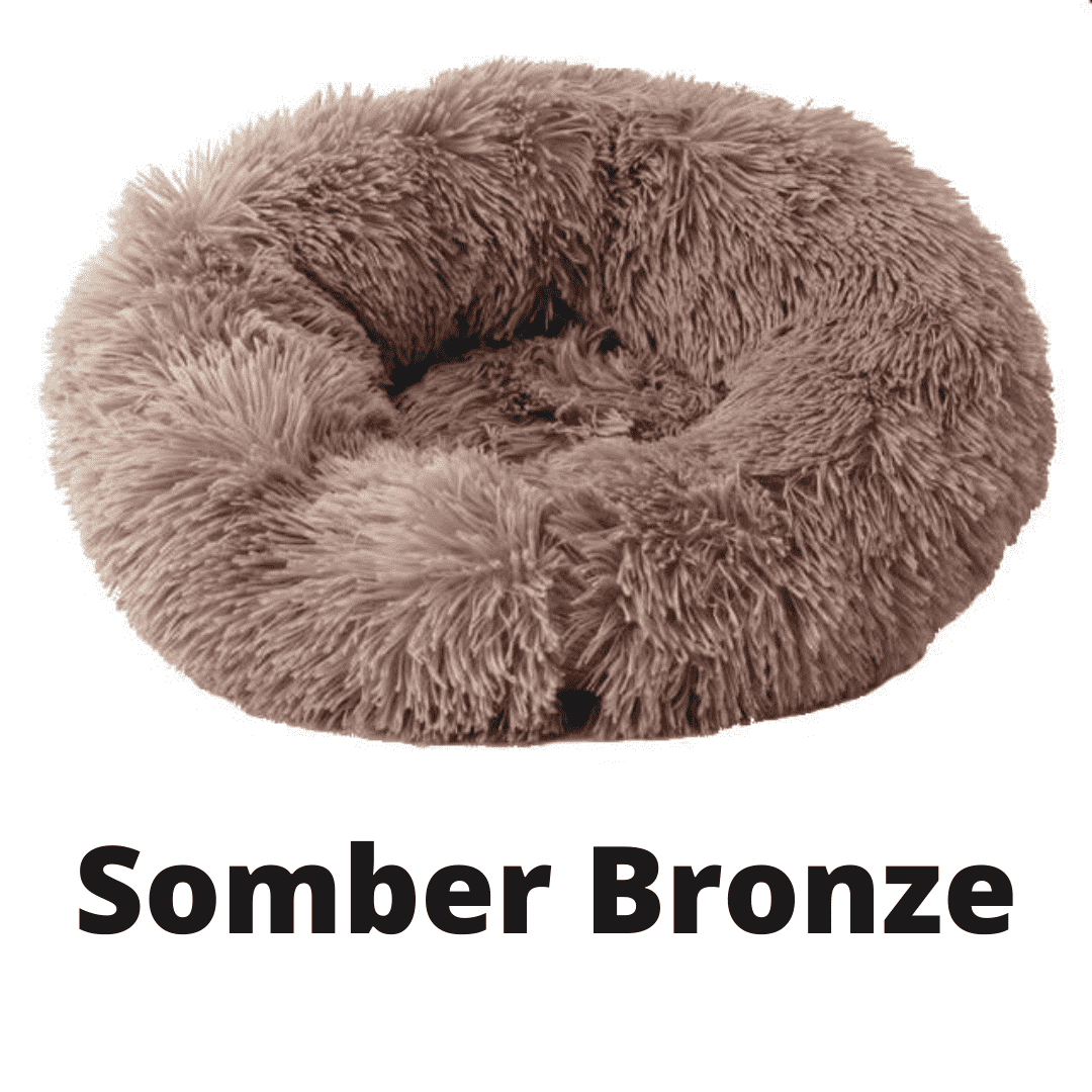 Double Stuff'd Plush Cat Bed - Somber Bronze | PetSchitt.com