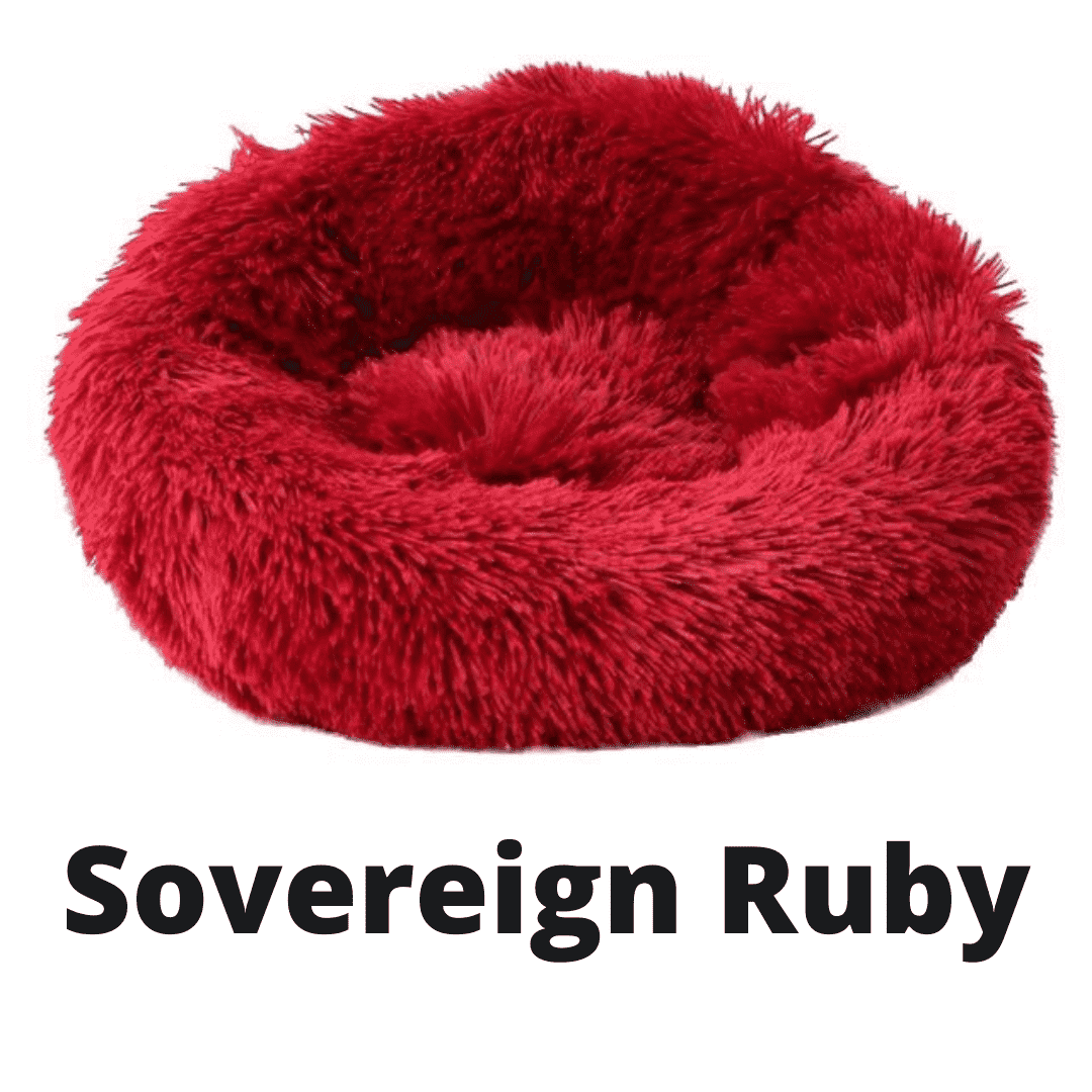 Double Stuff'd Plush Cat Bed - Sovereign Ruby | PetSchitt.com