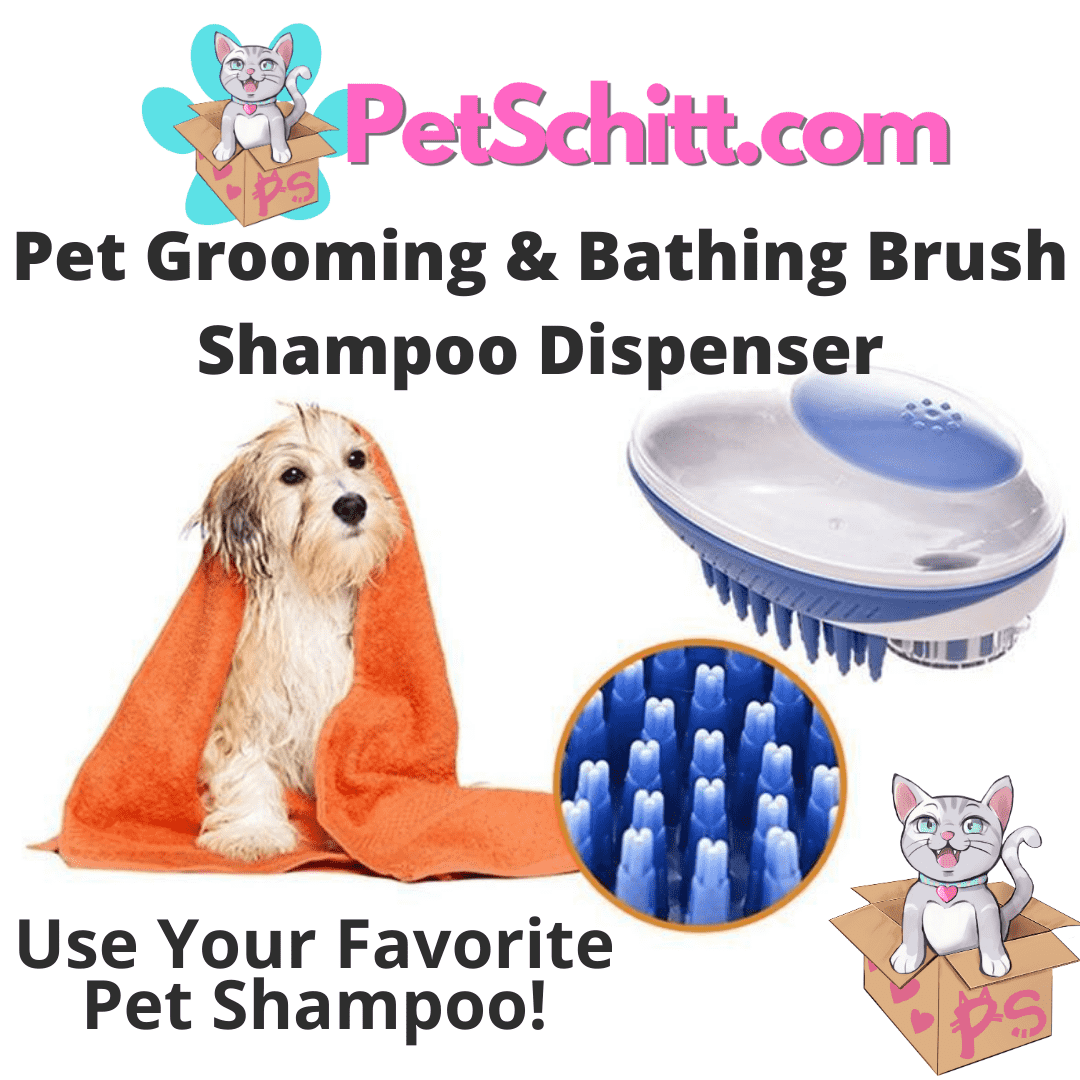 Pet Grooming and Bathing Brush Shampoo Dispenser | PetSchitt.com