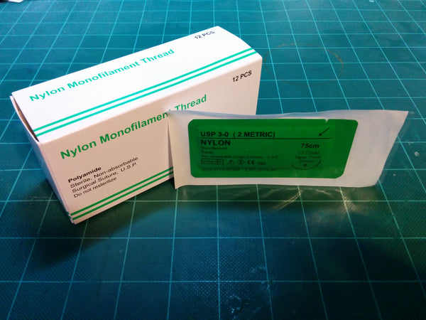 Nylon 3-0 Suture - 1/2 Taper Point Needle