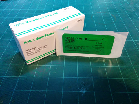 Nylon 3-0 Suture - 3/8 Reverse Cutting