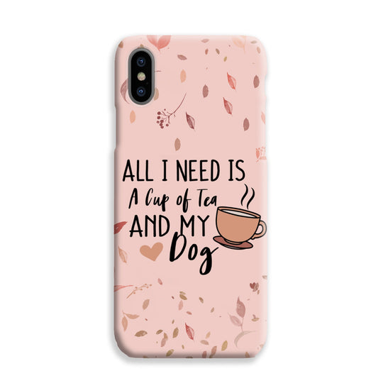 Phone Case - Tea and my dog - Nude Pink
