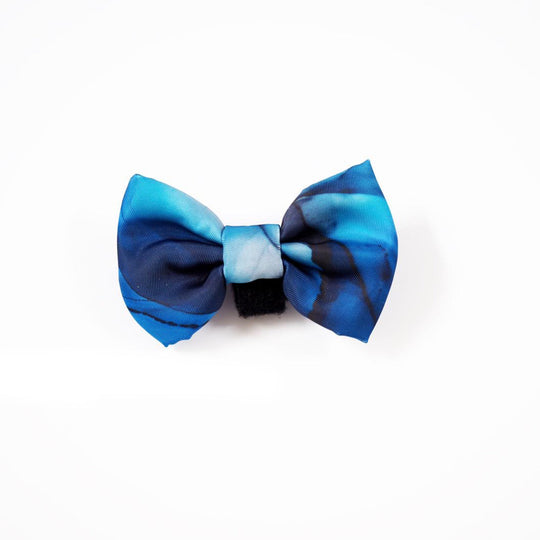 Bow - Marble Moments Midnight Blue