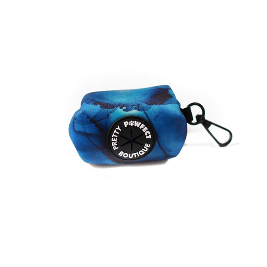 Poop Bag Holder - Marble Moments In Midnight Blue
