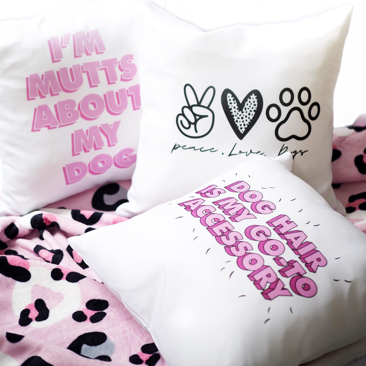 Cushion - I'm Mutts About My Dog - Pretty Pawfect Boutique