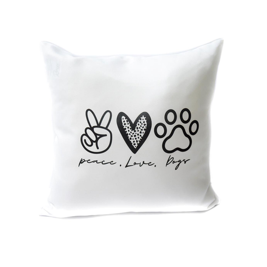 Cushion - Peace Love Dogs - Pretty Pawfect Boutique