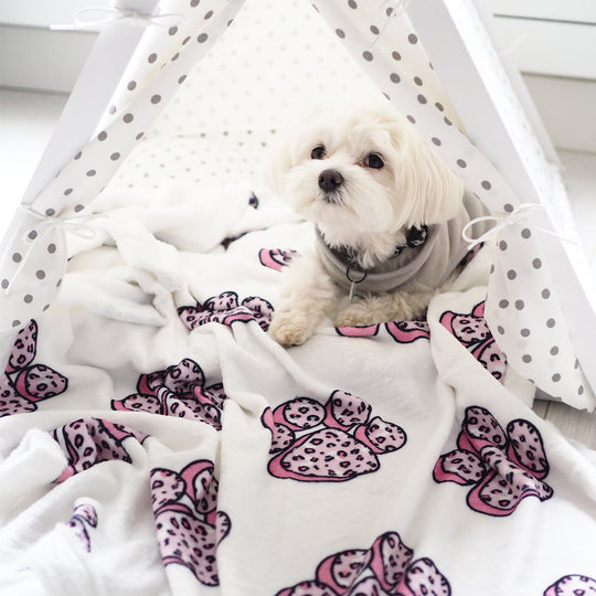 Pet Blanket - Stay Wild Paw Prints