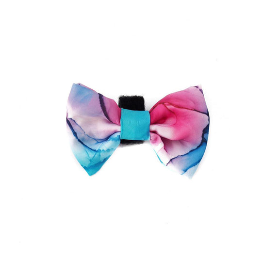 Bow - Marble Moments Tie Dye Pink