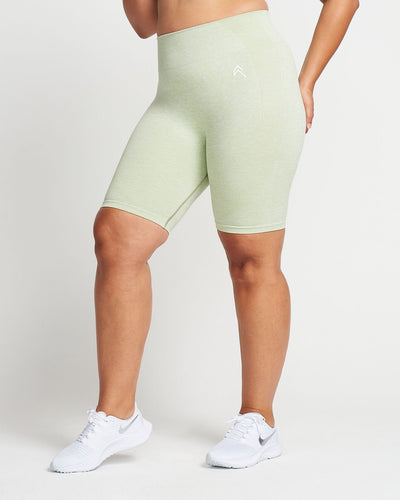 Classic Seamless Cycling Shorts | Pistacchio Marl