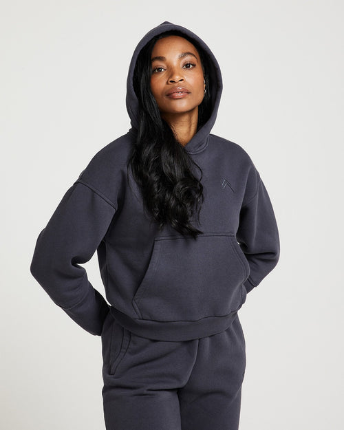 Oner Modal Classic Lounge Hoodie | Coal