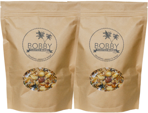 2 x Macadamia, Coconut & Cranberry - The Original Bobby