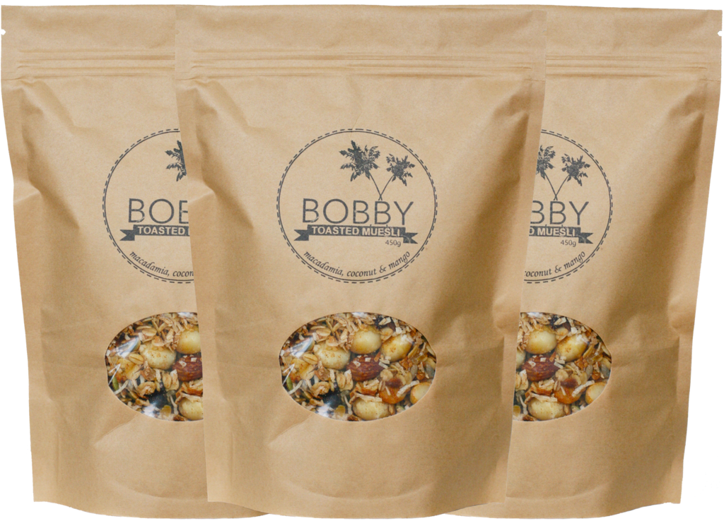 3 x Macadamia, Coconut & Cranberry - The Original Bobby