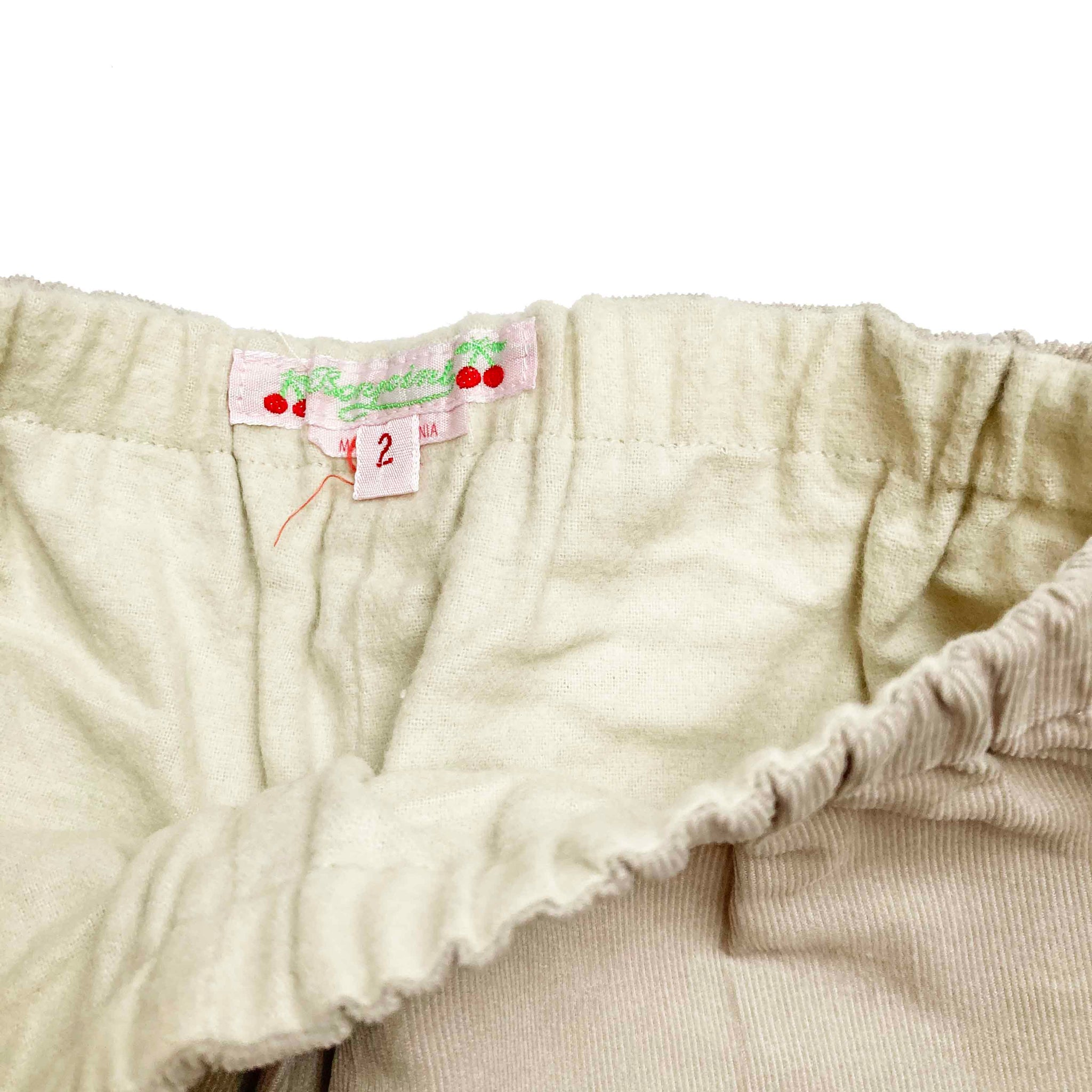 BONPOINT CREAM CORD TROUSERS 2 YEARS