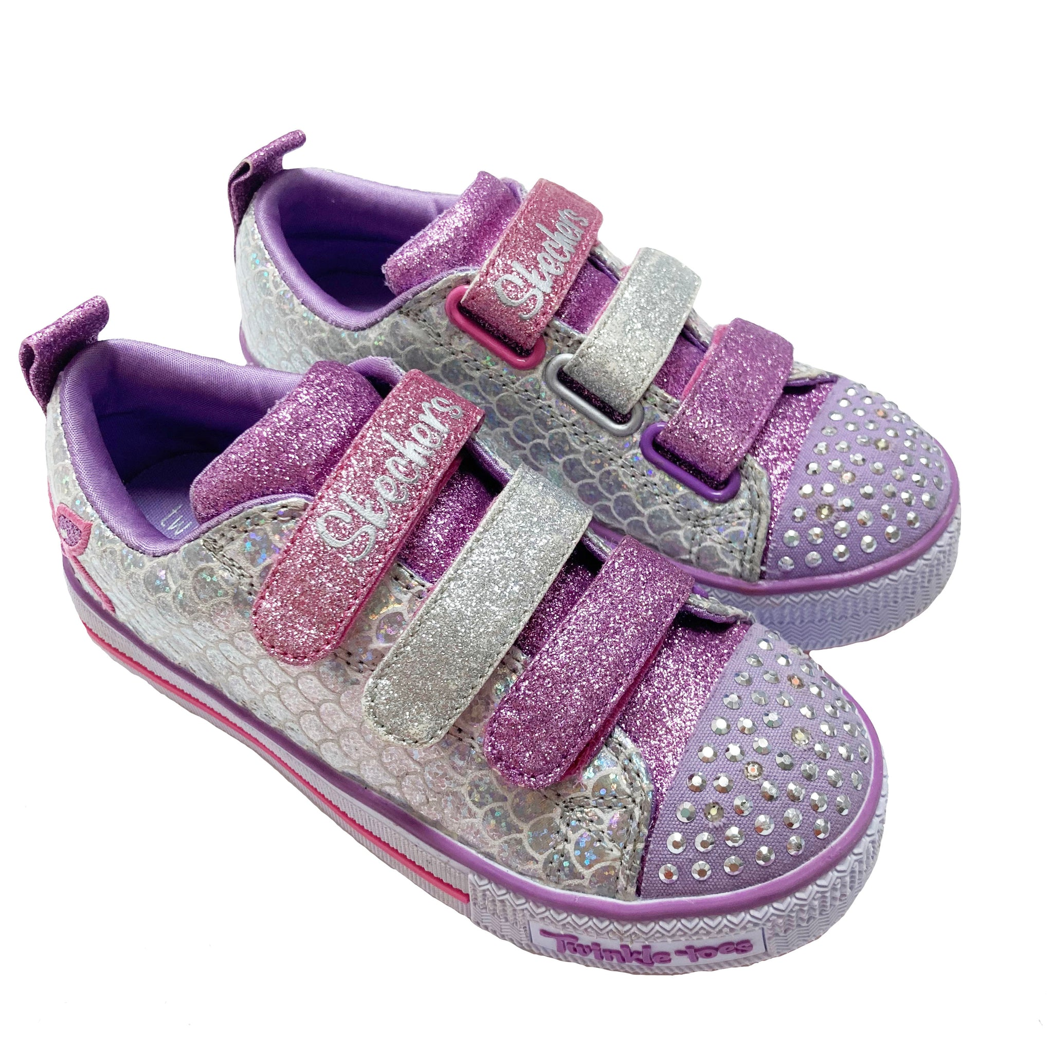 SKETCHERS SPARKLE SCALES TWINKLE TOES UK 12