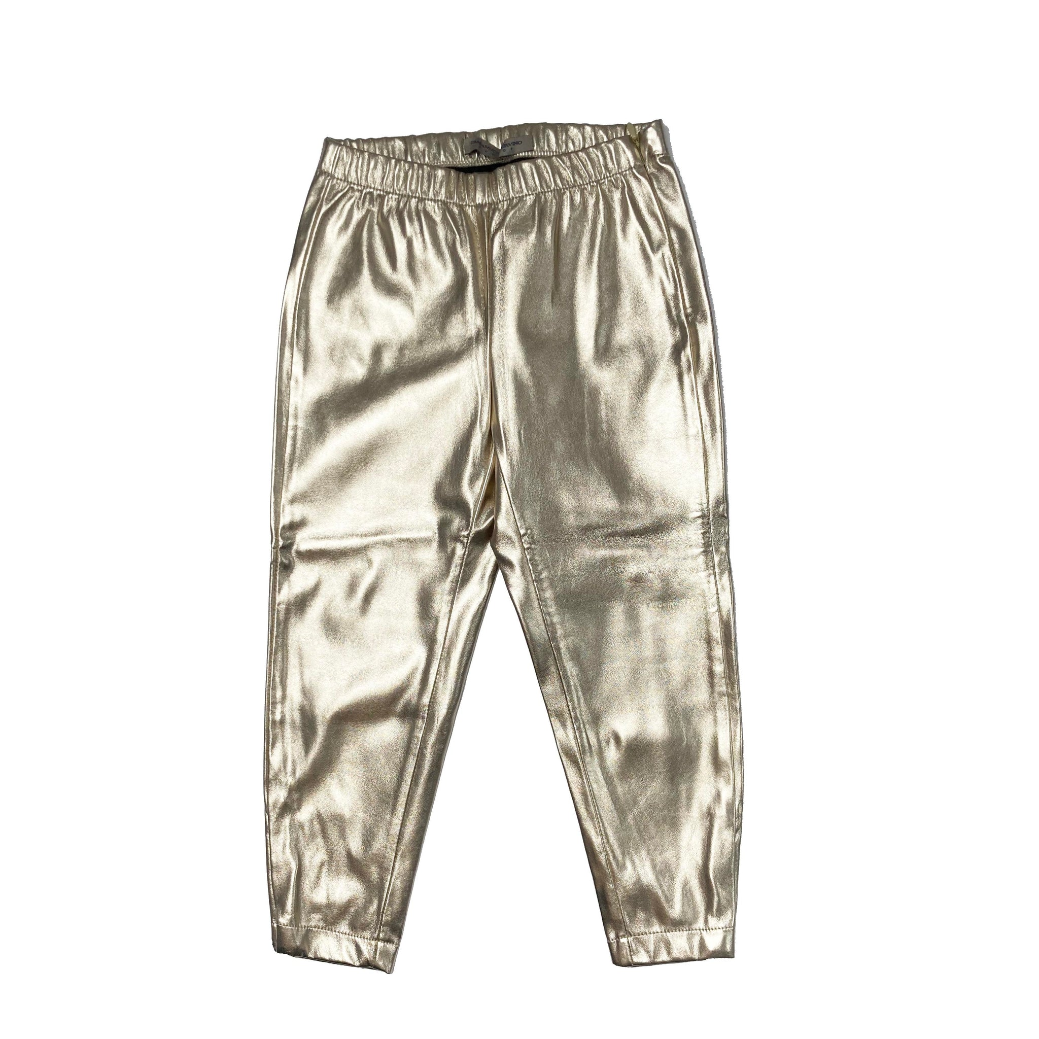 ERMANNO SCERVINO PLEATHER GOLD TROUSERS 4 YEARS