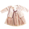 MARIE CHANTAL PARTY DRESS AND CARDIGAN 0-6 MONTHS