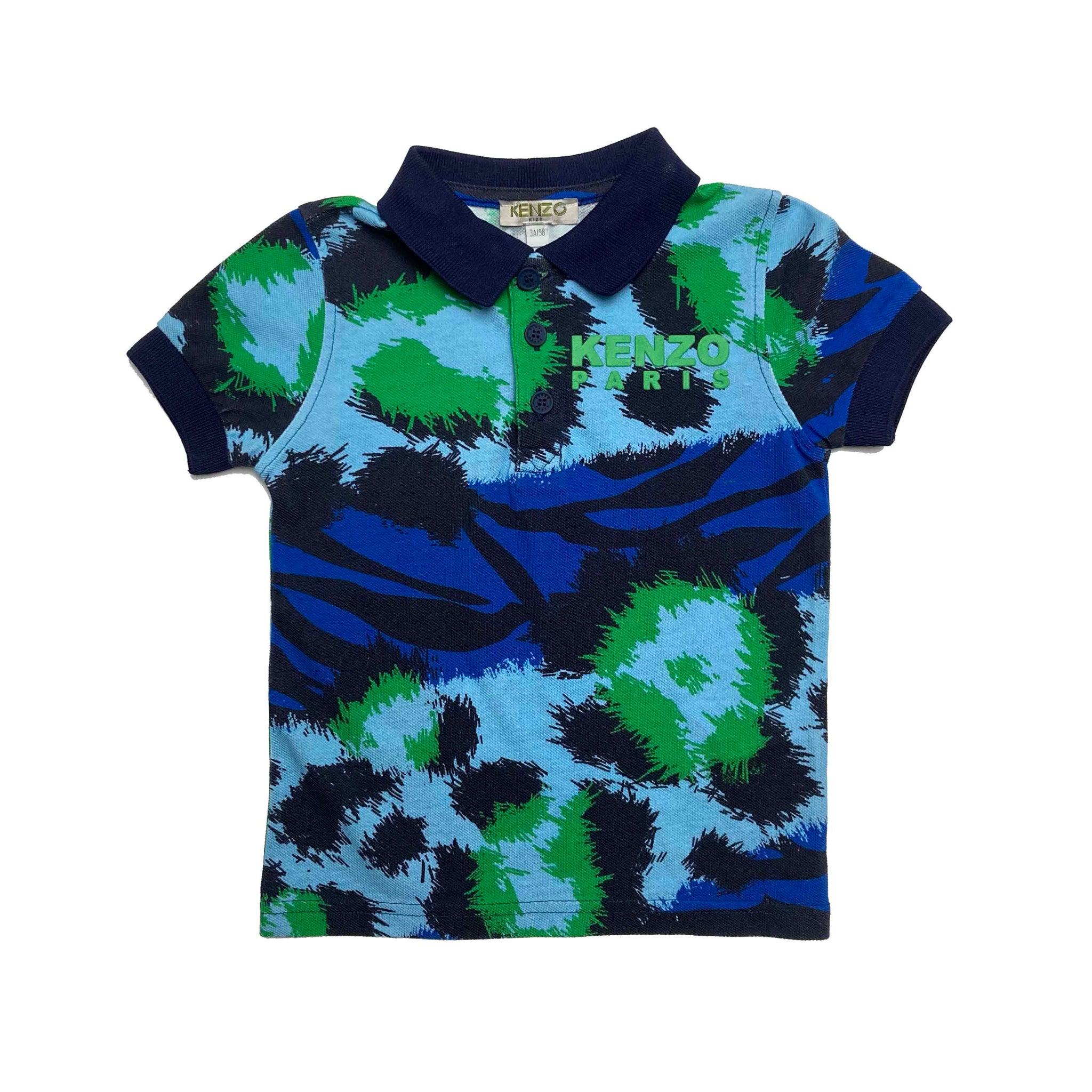 KENZO BLUE/GREEN POLO TOP 3 YEARS