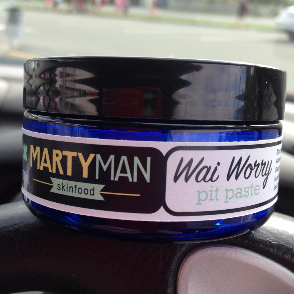 Martyman Wai Worry pit paste - spearmint, lime & cedarwood