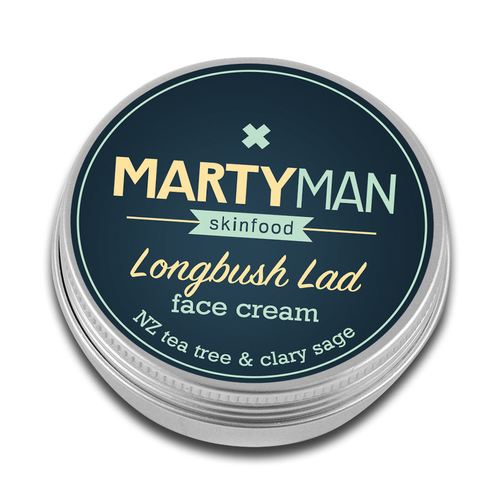 Longbush Lad face cream - NZ tea tree & clary sage 100ml