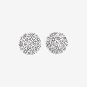 Custom Diamond Flower Stud Earrings