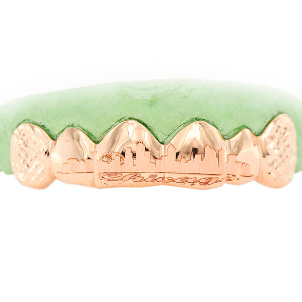 6 Solid 4 Engraved Teeth Grill