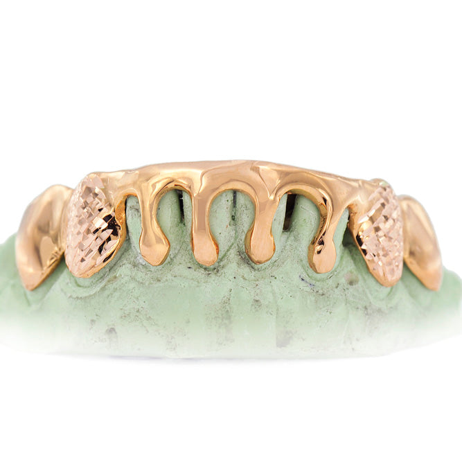8 Piece Dripping Gold Grill